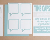 3 Personalized Digital pdf. to make a Wedding Guest Book Time Capsule - Your Colors