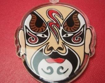 Peking opera mask pendant Acrylic huge x1