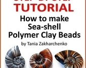 Polymer Clay TUTORIAL- Sea-shell Beads - lesson DIY digital download PDF