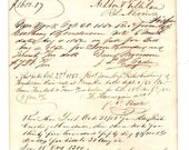 1852 Ledger Papers Ephemera Handwriting  RESERVED FOR ROCHELLE