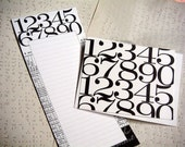 NUMBERS Notepad and Notecard Set
