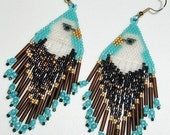 Native American Beaded Earrings (Tribute to the Eagle)