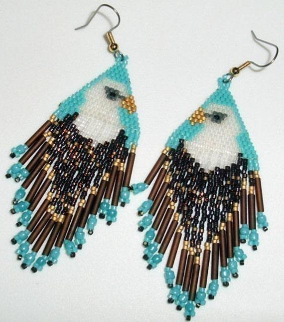 Items Similar To Native American Beaded Earrings Tribute