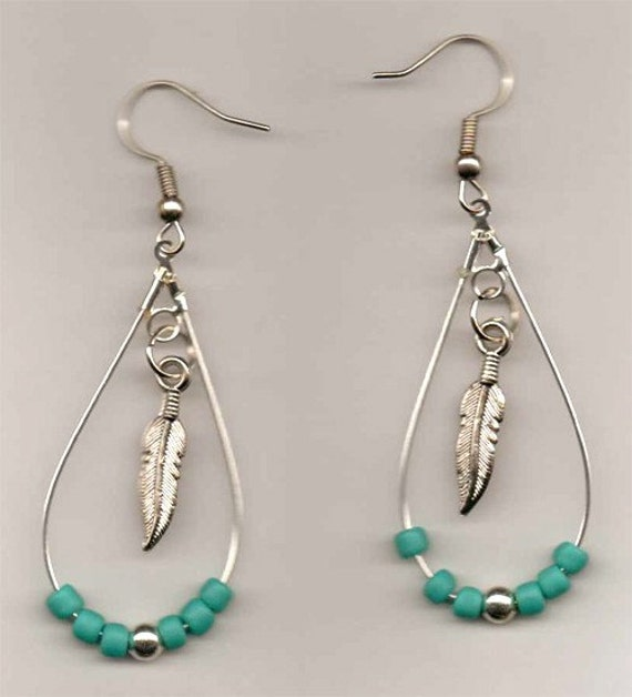 Items Similar To Native American Beaded Earrings (Beads