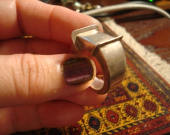 Mod Glam Silver Ring