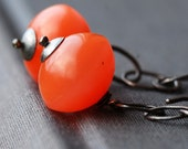 LAST PAIR apricot earrings
