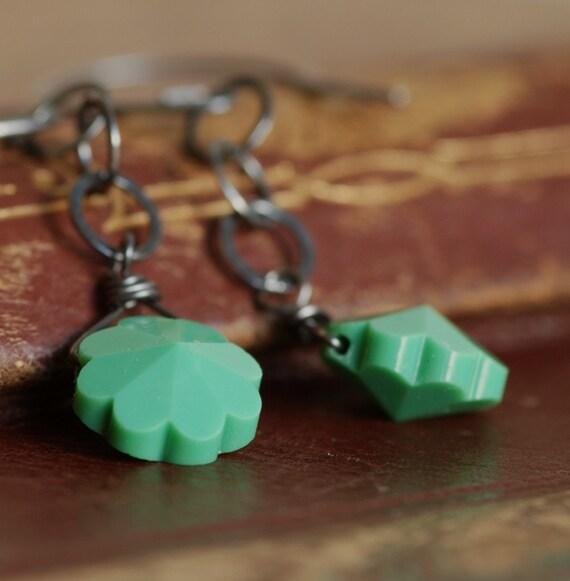 RESERVED marguerite vintage swarovski earrings