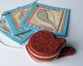 Special Listing for Brenda - Shell Trio- Rubber Stamps- Cling Cushion