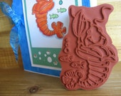 NEW - Leroy Le Lobster Rubber Stamp