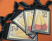 Halloween Candy Corn Tags - Set of Four - Primitive style
