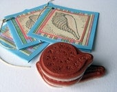 Shell Trio- Rubber Stamps- Cling Cushion