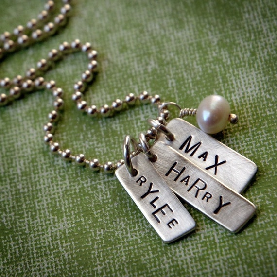 You Choose the Names on the Tags Necklace, Sterling Silver