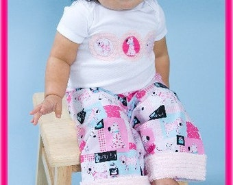Cutiepies Couture Custom boy girls Little chenille patchwork puppy set