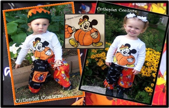 cutiepies couture halloween pumpkin mouse applique tee custom boutique boys and girls