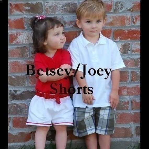 Betsey Joey Reversible and Non Reversible Shorts Epattern