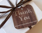 Die Cut Wood Pattern Thank You Tags Custom Personalized Gift Cards 00109b - HomegrownGems