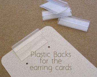 100 Plastic Backs Lips for Earring Card Adapters