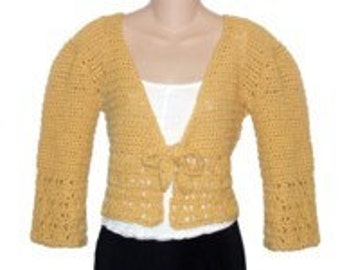 Butterscotch Cardigan Sweater Shrug Crochet Pattern pdf