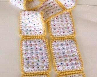 Crochet Pattern for Pop Tart Poptart Scarf PDF