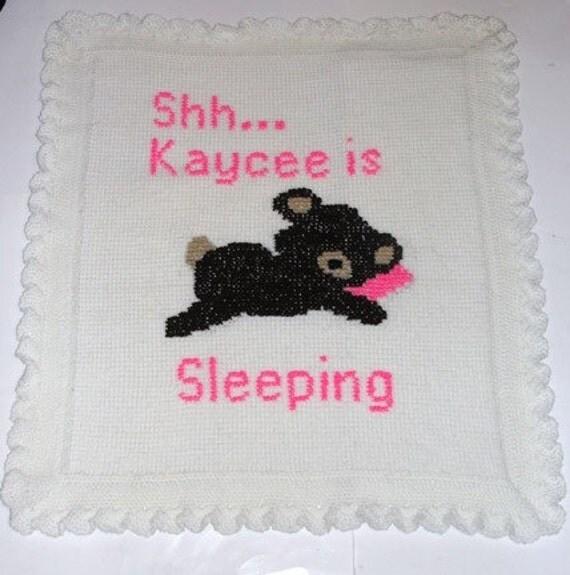 Shh Baby Is Sleeping Bear Blanket Afghan Crochet Pattern