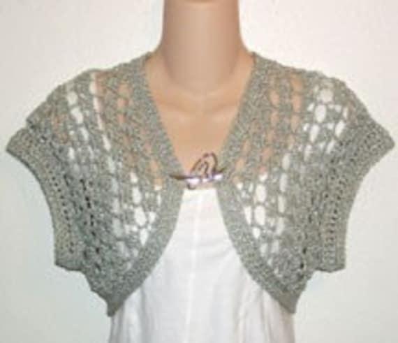 pdf crochet pattern for Green n Gold Shrug