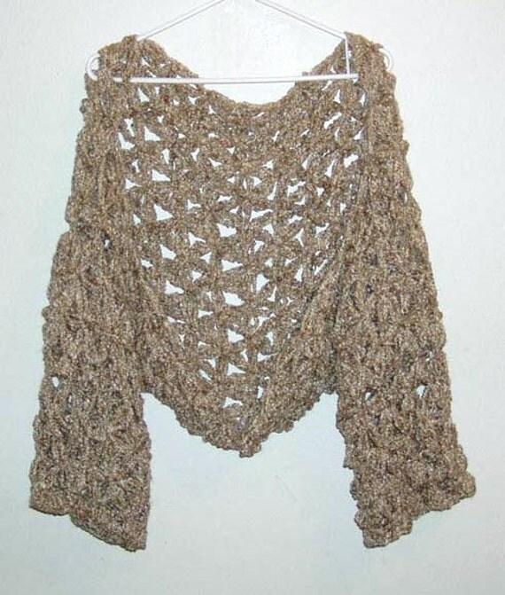 Crochet Flower Shrug Pattern : Baggy Flower Shrug Pattern PDF Crochet