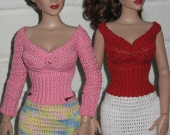 Peggy's Sweater and Skirt Set Crochet Pattern