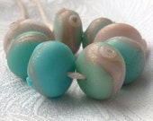 Sea Foam Green Blue Turquoise Beads Handmade