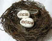 Personalized Nest With Eggs your choice of colors