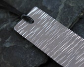 Waves Hand Hammered Aluminum Bookmark