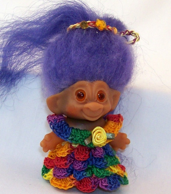 Multi Colored 3 Inch TROLL OUTFIT