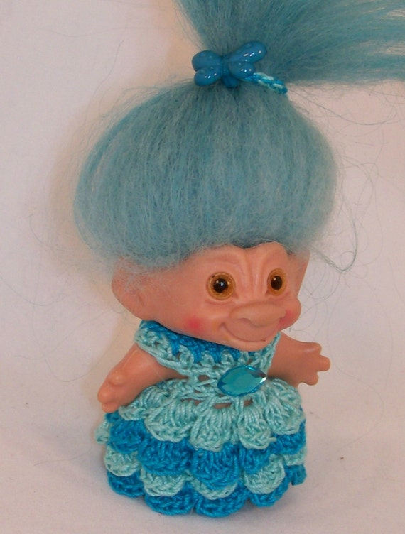 Shades of Teal - 3 Inch TROLL OUTFIT