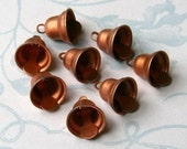 8 Vintage Copper Bells