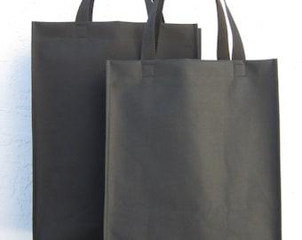 Tote Bag  -Black Nylon Canvas Medium