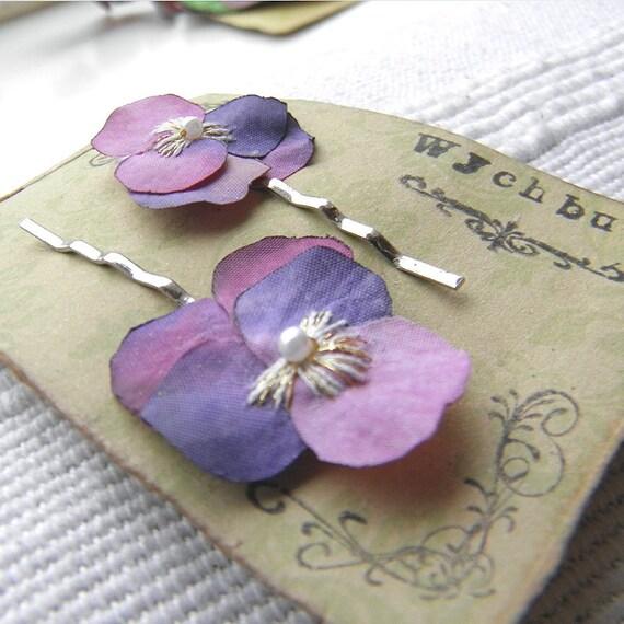 Little Viola Clips - Rose and Mauve