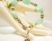 Amazonite Bracelet Labradorite Jewelry Large Size Bracelet E0911-14