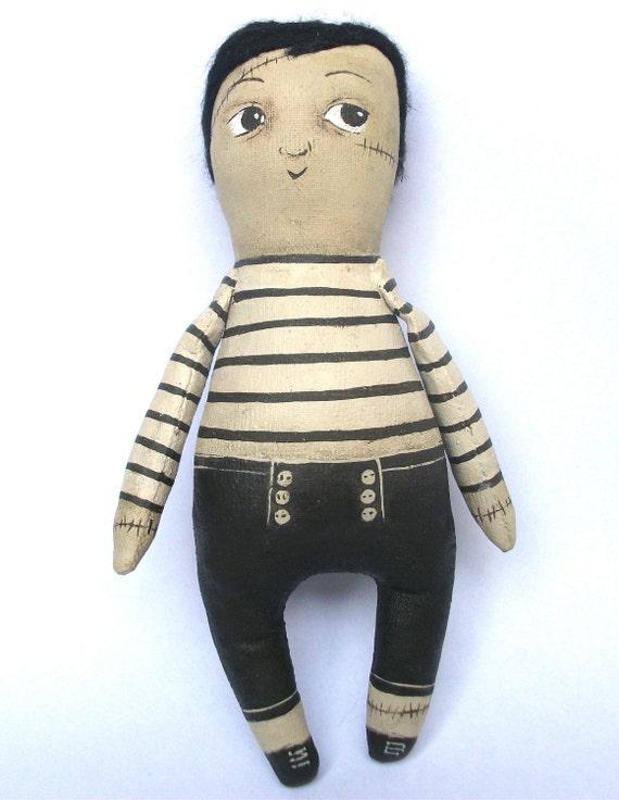 RESERVED for Vivien- Ernest - Zombie mini Art doll