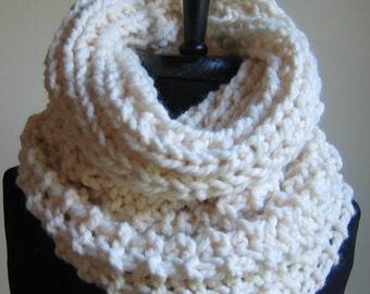 Cream chunky knit cowl- Incognito