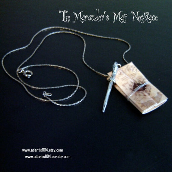 The Marauder's Map Necklace- (etsy)