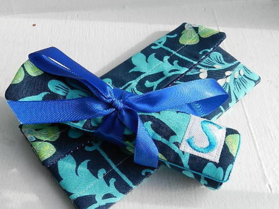 The Perfect Bridesmaid Wallet Set (Quilted Jewelry Roll and Wallet) Choose Your Own Fabric