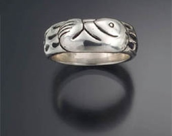 Sea Otter  Ring,re-purposed sterling silver, recycled silver ring, sterling silver