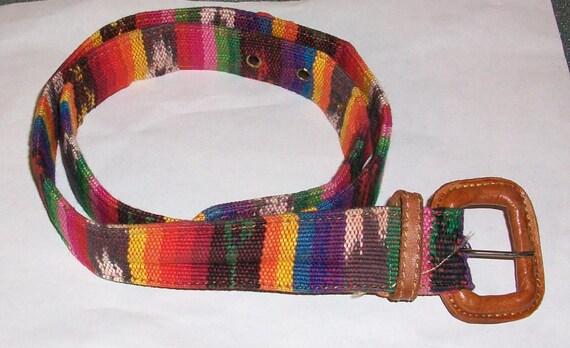 Vintage Colorful Ethnic Guatemalan Belt