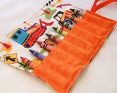 Crayon roll - ROADWORK Crayon Roll Up - Stocking Stuffer - Kids