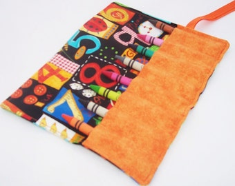 Kids Stocking Stuffers - Crayon Roll - NUMBER FUN Crayon Roll Up - Ready To Ship