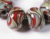 Lampwork Beads, Lampwork Boro Beads, Glass Beads, BBGLASSART - Lampwork Glass Beads, Sedona Prisms