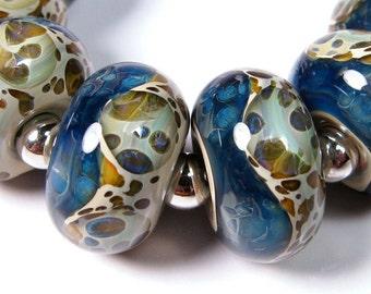 Lampwork beads - Ocean Shores - BBGLASSART - Lampwork Boro Glass Beads