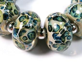 Lampwork beads - Sea Stone - BBGLASSART - Lampwork Boro Glass Bead