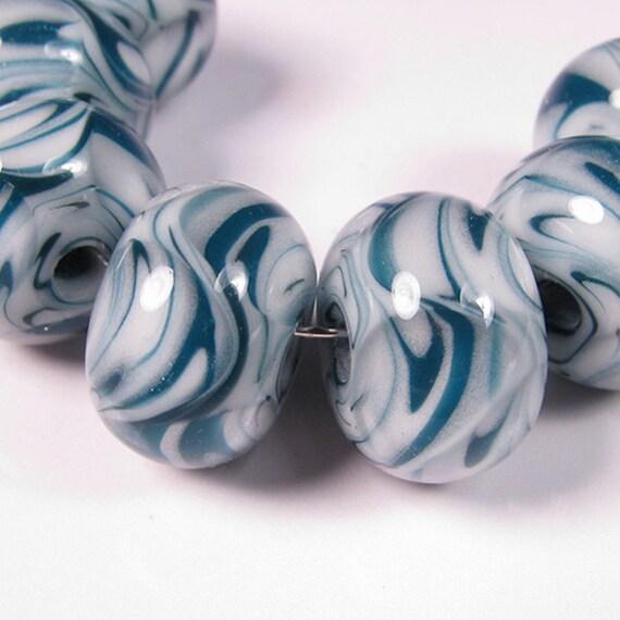 Lampwork Boro Glass Beads - bbglassart - Set Sail