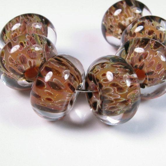 Lampwork glass beads - Sienna - BBGLASSART - Lampwork Boro Beads