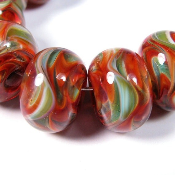 Verdant Rose - BBGLASSART - Lampwork Boro Beads